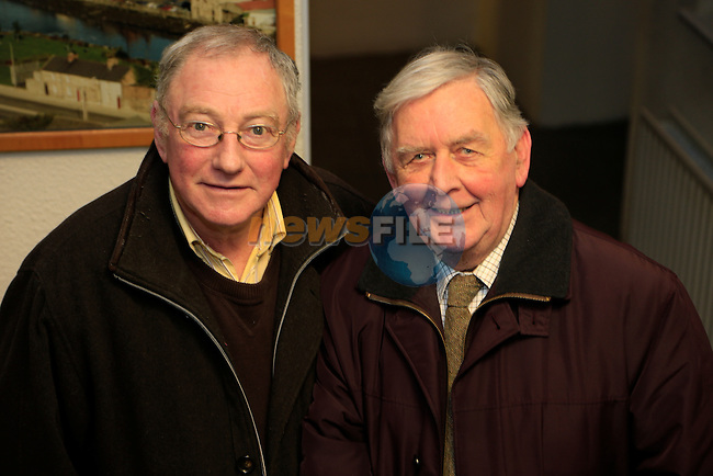 Matt Quinn and Johnny Gregory at the ODS lecture called 'Who Fears to Wear the Red Hand Badge' in the Governors House, Millmount.<br />  Picture: Fran Caffrey www.newsfile.ie
