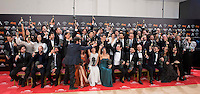 All the Goya winner posing the photo family for the media at Madrid Marriott Auditorium Hotel in Madrid, Spain. February 04, 2017. (ALTERPHOTOS/BorjaB.Hojas) /NORTEPHOTO.COM
