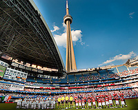 July 16, 2010 Manchester United vs Celtic FC at the Rogers Centre in Toronto.