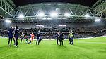 Stockholm 2013-10-27 Fotboll Allsvenskan Djurg&aring;rdens IF - Gefle IF :  <br /> Djurg&aring;rden huvudtr&auml;nare tr&auml;nare Per-Mathias H&ouml;gmo under en intervju med Sveriges Radio i samband med att han blir avtackad och hyllad efter sista matchen som tr&auml;nare f&ouml;r Djurg&aring;rdens IF i Tele2 Arena<br /> (Foto: Kenta J&ouml;nsson) Nyckelord:  tr&auml;nare manager coach inomhus interi&ouml;r interior