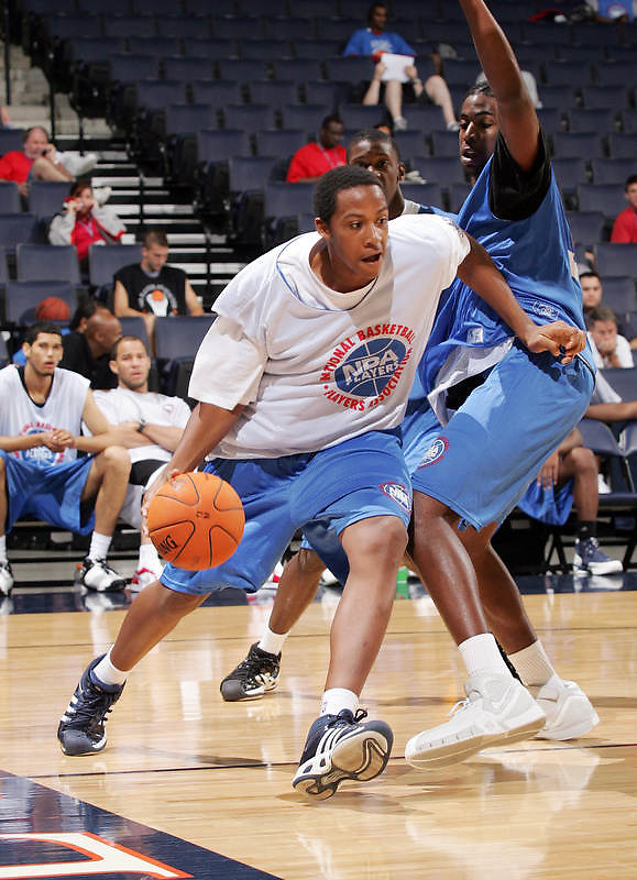 C/F Kenny Kadji (Bradenton, FL / IMG Academy) moves the ball during the NBA Top 100 Camp held Friday June 22, 2007 at the John Paul Jones arena in Charlottesville, Va. (Photo/Andrew Shurtleff)