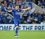 Leicester's Jamie Vardy in action during the Barclays Premier League match at the King Power Stadium.  Photo credit should read: David Klein/Sportimage