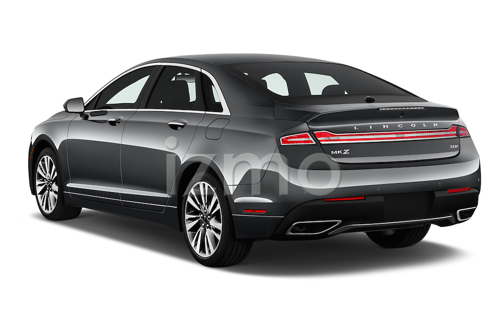 Car pictures of rear three quarter view of 2017 Lincoln MKZ Hybrid-Select 4 Door Sedan Angular Rear