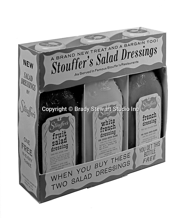 Client: Stouffers Foods<br /> Ad Agency: Ketchum, MacLeod @ Grove<br /> Contact: Dana Gilpin<br /> Product: Stouffers Salad Dressings<br /> Location: Brady Stewart Studio, 725 Liberty Avenue Pittsburgh<br /> <br /> The STOUFFER'S Brand traces its roots to 1922, when Abraham and Mahala Stouffer opened a small coffee shop in Cleveland Ohio featuring delicious home-made food.