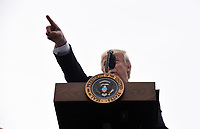 United States President Donald J. Trump speaks during the Congressional Picnic on the South Lawn  of the White House in Washington, DC, on June 22, 2017. <br /> Credit: Olivier Douliery - Pool via CNP /MediaPunch
