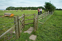 Kissing gate on a public footpath. at Hanbury village, Burton on Trent, Staffordshire.