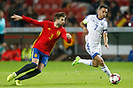 Spain's Gerard Pique (l) and Israel's Eran Zahavi during FIFA World Cup 2018 Qualifying Round match. March 24,2017.(ALTERPHOTOS/Acero)