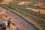 China, a Bai farmer in the Dali Bai Autonomous Prefecture, Yunnan Province