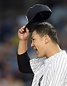Masahiro Tanaka (Yankees), JUNE 9, 2015 - MLB : New York Yankees starting pitcher Masahiro Tanaka returns his side's bench during the third inning of a baseball game against the Washington Nationals at Yankee Stadium in New York, United States. (Photo by AFLO)