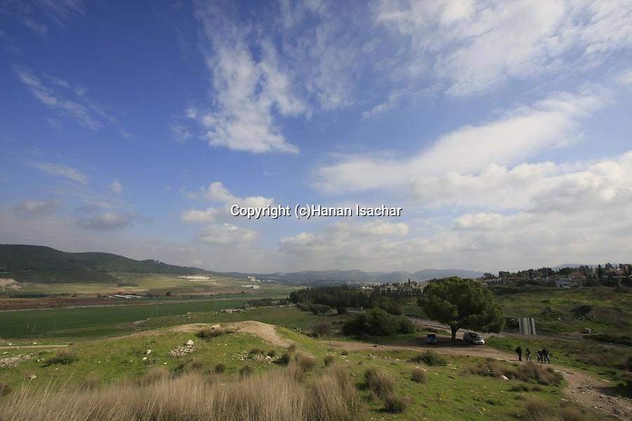 Israel, Shephelah. View from Tel Beth Shemesh