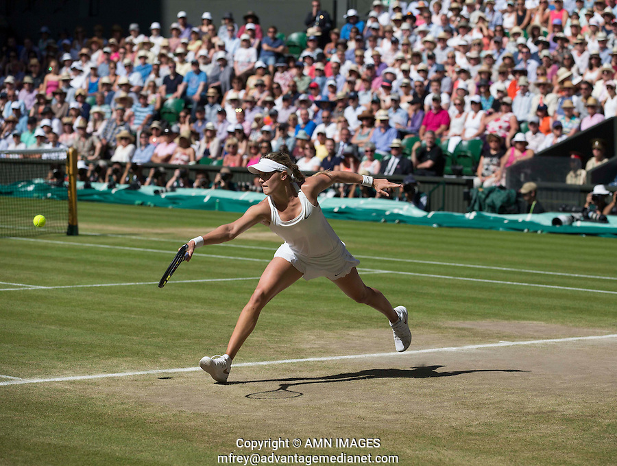 EUGENIE BOUCHARD (CAN)<br /> <br /> The Championships Wimbledon 2014 - The All England Lawn Tennis Club -  London - UK -  ATP - ITF - WTA-2014  - Grand Slam - Great Britain -  3rd July 2014. <br /> <br /> © AMN IMAGES
