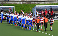 The teams walk out for the 2017 National Hockey League Men's final between Auckland and North Harbour at National Hockey Stadium in Wellington, New Zealand on Sunday, 24 September 2017. Photo: Dave Lintott / lintottphoto.co.nz