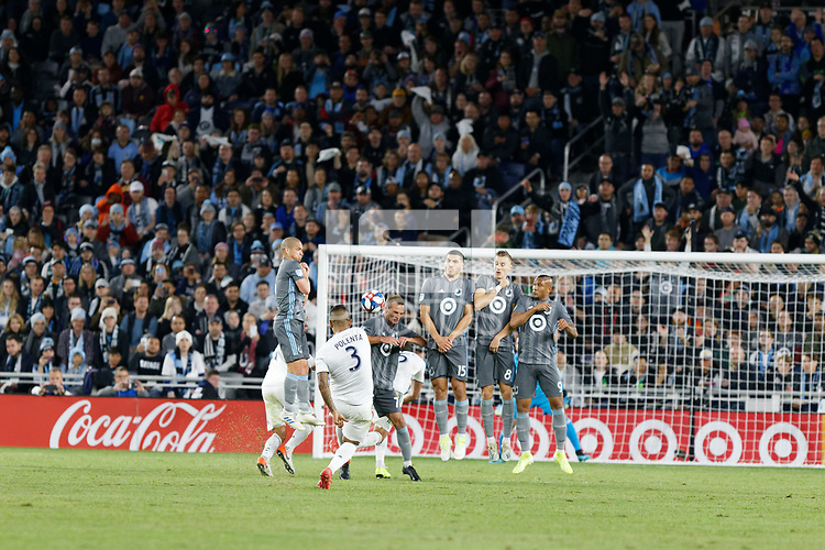 St. Paul, MN - Sunday October 20, 2019 :Los Angeles Galaxy advanced to the 2019 Western Conference semifinals of the MLS Cup Playoffs with a 2-1 win over Minnesota United FC at Allianz Field.