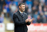 St Johnstone v RangersÖ21.05.17     SPFL    McDiarmid Park<br /> Rangers manager Pedro Caixinha appluds his players<br /> Picture by Graeme Hart.<br /> Copyright Perthshire Picture Agency<br /> Tel: 01738 623350  Mobile: 07990 594431
