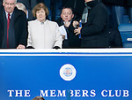 Billy Davies takes his seat in the Members Club