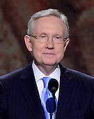 United States Senate Majority Leader Harry Reid (Democrat of Nevada) makes remarks at the 2012 Democratic National Convention in Charlotte, North Carolina on Tuesday, September 4, 2012.  .Credit: Ron Sachs / CNP.(RESTRICTION: NO New York or New Jersey Newspapers or newspapers within a 75 mile radius of New York City)