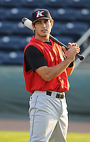 August 25, 2009: Infielder Daniel Wagner (39) of the Kannapolis Intimidators, 2009 16th round draft pick of the Chicago White Sox out of Belmont University, in a game at Fluor Field at the West End in Greenville, S.C. Photo by: Tom Priddy/Four Seam Images