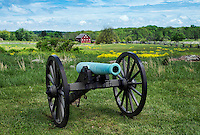 Canon on battlefield, Gettysburg National Military Park, Pennsylvania, USA