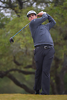 Beau Hossler (USA) watches his tee shot on 2 during Round 3 of the Valero Texas Open, AT&amp;T Oaks Course, TPC San Antonio, San Antonio, Texas, USA. 4/21/2018.<br /> Picture: Golffile | Ken Murray<br /> <br /> <br /> All photo usage must carry mandatory copyright credit (&copy; Golffile | Ken Murray)