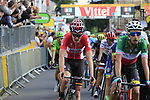 Riders cross the finish of Stage 3 of the 104th edition of the Tour de France 2017, running 212.5km from Verviers, Belgium to Longwy, France. 3rd July 2017.<br /> Picture: Eoin Clarke | Cyclefile<br /> <br /> All photos usage must carry mandatory copyright credit (&copy; Cyclefile | Eoin Clarke)