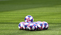 20190623 - VALENCIENNES , FRANCE : illustration picture shows the Adidas Tricolore ball during the female soccer game between England – the Lionesses - and Cameroon – Indomitable Lionesses - , a knock out game in the round of 16 during the FIFA Women's  World Championship in France 2019, Sunday 23 th June 2019 at the Stade du Hainaut Stadium in Valenciennes , France .  PHOTO SPORTPIX.BE | DAVID CATRY