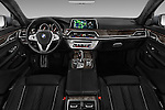 Stock photo of straight dashboard view of 2017 BMW 7 Series 750i M Sport 4 Door Sedan Dashboard