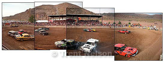 Beaver County Fair Demolition Derby Panoramic Sequence<br />