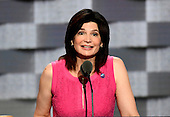 Lily Eskelsen Garc&iacute;a, President , National Education Association, makes remarks at the 2016 Democratic National Convention at the Wells Fargo Center in Philadelphia, Pennsylvania on Monday, July 25, 2016.<br /> Credit: Ron Sachs / CNP<br /> (RESTRICTION: NO New York or New Jersey Newspapers or newspapers within a 75 mile radius of New York City)