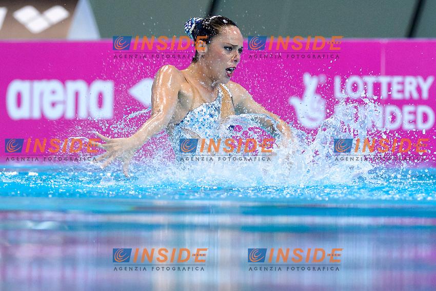SALVADOR Cristina ESP Spain <br /> Solo Free<br /> London, Queen Elizabeth II Olympic Park Pool <br /> LEN 2016 European Aquatics Elite Championships <br /> Synchronized Swimming  <br /> Day 01 09-05-2016<br /> Photo Andrea Staccioli/Deepbluemedia/Insidefoto