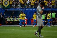 SÃO PAULO, SP 22.06.2019: PERU-BRASIL - Daniel Alves comemora gol. Peru e Brasil durante partida válida pela terceira rodada do grupo A da Copa América Brasil 2019, que acontece na Arena Corinthians, zona leste da capital paulista na tarde deste sábado (22). (Foto: Ale Frata/Código19)