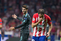 Chelsea´s forward Alvaro Morata during the UEFA Champions League group C match between Atletico Madrid and Chelsea played at the Wanda Metropolitano Stadium in Madrid, on September 27th 2017.