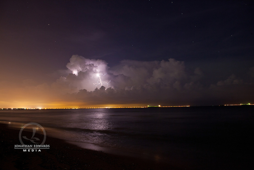Thunderstorm on a Summer Night on the Chesapeake Bay