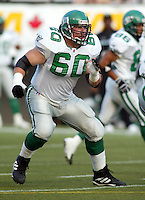 Gene Makowsky Saskatchewan Roughriders 2003. Photo copyright Scott Grant.