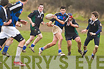Cian Corcoran  ISK and Ian Murphy Tackling  Mounthawk on Right is Eoin Kelly Mounthawk.ISK v Mounthawk Rugby