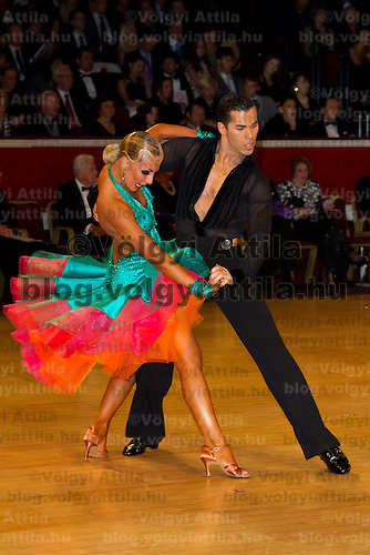 Rachid Malki & Anna Suprun perfomr their dances during the latin-american professional competition of the International Championships held in Royal Albert Hall, London, United Kingdom. Thursday, 21. October 2010. ATTILA VOLGYI