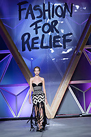 Daphne Groeneveld walks the runway during Fashion For Relief Cannes 2018 during the 71st annual Cannes Film Festival at Aeroport Cannes Mandelieu on May 13, 2018 in Cannes, France.<br /> CAP/NW<br /> &copy;Nick Watts/Capital Pictures