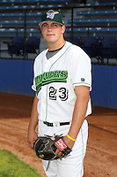 June 27th 2008:  Adam Campbell of the Jamestown Jammers, Class-A affiliate of the Florida Marlins, during a game at Russell Diethrick Park in Jamestown, NY.  Photo by:  Mike Janes/Four Seam Images
