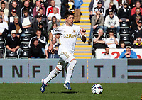 Pictured: Pablo Hernandez of Swansea. Saturday 04 May 2013<br /> Re: Barclay's Premier League, Swansea City FC v Manchester City at the Liberty Stadium, south Wales.