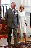 Pictured: Prince Charles with his wife the Duchess arrive at the Presidential Mansion in Athens, Greece. Wednesday 09 May 2018 <br /> Re: Official visit of HRH Prnce Charles and his wife the Duchess of Cornwall to Athens, Greece.