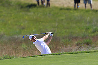 Rory McIlroy (NIR) in a fairway bunker for his 2nd shot on the 16th hole during Thursday's Round 1 of the 118th U.S. Open Championship 2018, held at Shinnecock Hills Club, Southampton, New Jersey, USA. 14th June 2018.<br /> Picture: Eoin Clarke | Golffile<br /> <br /> <br /> All photos usage must carry mandatory copyright credit (&copy; Golffile | Eoin Clarke)