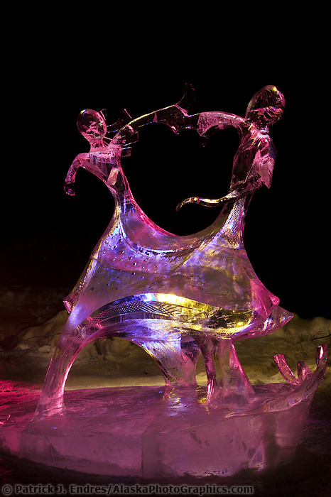 White Dance, by Alexander Zaitsev and, Regan Dillon, 1st place Single Block, 2003 World Ice Art Championships, Fairbanks Alaska.
