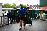 Kahn Fotuali'i and the rest of the Bath Rugby team arrive at Welford Road. Gallagher Premiership match, between Leicester Tigers and Bath Rugby on May 18, 2019 at Welford Road in Leicester, England. Photo by: Patrick Khachfe / Onside Images