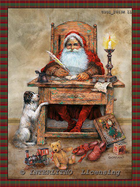 GIORDANO, CHRISTMAS SANTA, SNOWMAN, WEIHNACHTSMÄNNER, SCHNEEMÄNNER, PAPÁ NOEL, MUÑECOS DE NIEVE, nostalgic, paintings+++++,USGI2643MLL,#X# nostalgic,vintage
