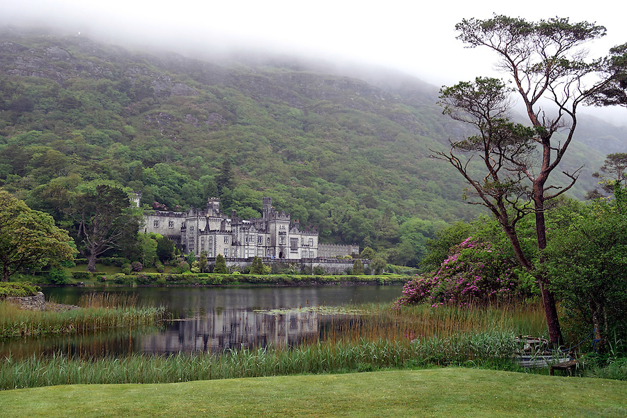 Kylemore Abbey, Connemara, County Galway, Ireland. Kylemore is a Benedictine monastery founded in 1920 on the grounds of Kylemore Castle. The abbey was founded for Benedictine Nuns who fled Belgium in World War I.
