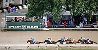 LOUISVILLE, KY - MAY 05: Big World #3, ridden by Florent Geroux, leads the field on the backstretch on his way to win the La Troienne Stakes on Kentucky Oaks Day at Churchill Downs on May 5, 2017 in Louisville, Kentucky. (Photo by Jon Durr/Eclipse Sportswire/Getty Images)