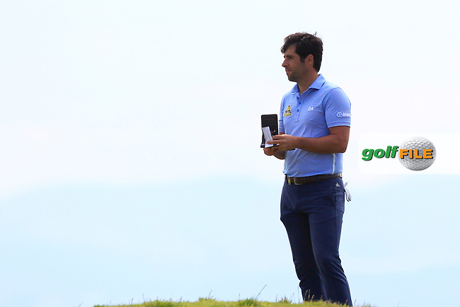 Adrian Otaegui (ESP) on the 3rd during Round 4 of the Aberdeen Standard Investments Scottish Open 2019 at The Renaissance Club, North Berwick, Scotland on Sunday 14th July 2019.<br /> Picture:  Thos Caffrey / Golffile<br /> <br /> All photos usage must carry mandatory copyright credit (© Golffile | Thos Caffrey)