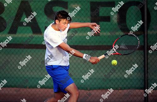 2015-07-31 / Tennis / seizoen 2015 / ISC Oud-Turnhout / Mathieu Bouwen<br /><br />Foto: Mpics.be