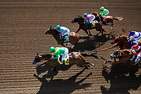 ARCADIA, CA - MARCH 11: Jockey, Mike Smith guides Master #4 to the front during the San Felipe Stakes at Santa Anita Park on March 11, 2017 in Arcadia, California. (Photo by Alex Evers/Eclipse Sportswire/Getty Images)