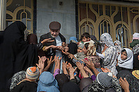 The Hamoon clinic in Farah province Afghanistan. 18-1-14 The Hamoon clinic in Farah province Afghanistan was founded by MP and activist Malalai Joya in 2003. It provides healthcare to women and children from some of the poorest communities in the country. It is funded by donations from abroad and run by the Organisation for Promoting Afghan Womens Capabilities (OPAWC). Engineer Aminullah the clinic administrator gives out appointment cards at the beginning of the clinic opening.