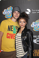LOS ANGELES, CA - OCTOBER 07: Matt Prokop and Sarah Hyland at the 4th Annual Los Angeles Haunted Hayride - 'The Congregation' - Arrivals held at Griffith Park on October 7, 2012 in Los Angeles, California. © mpi22/MediaPunch Inc. /©NortePhoto